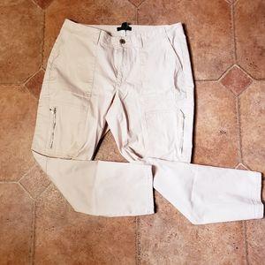 WHBM Slim Crop Cargo Pants w/ Utility Details